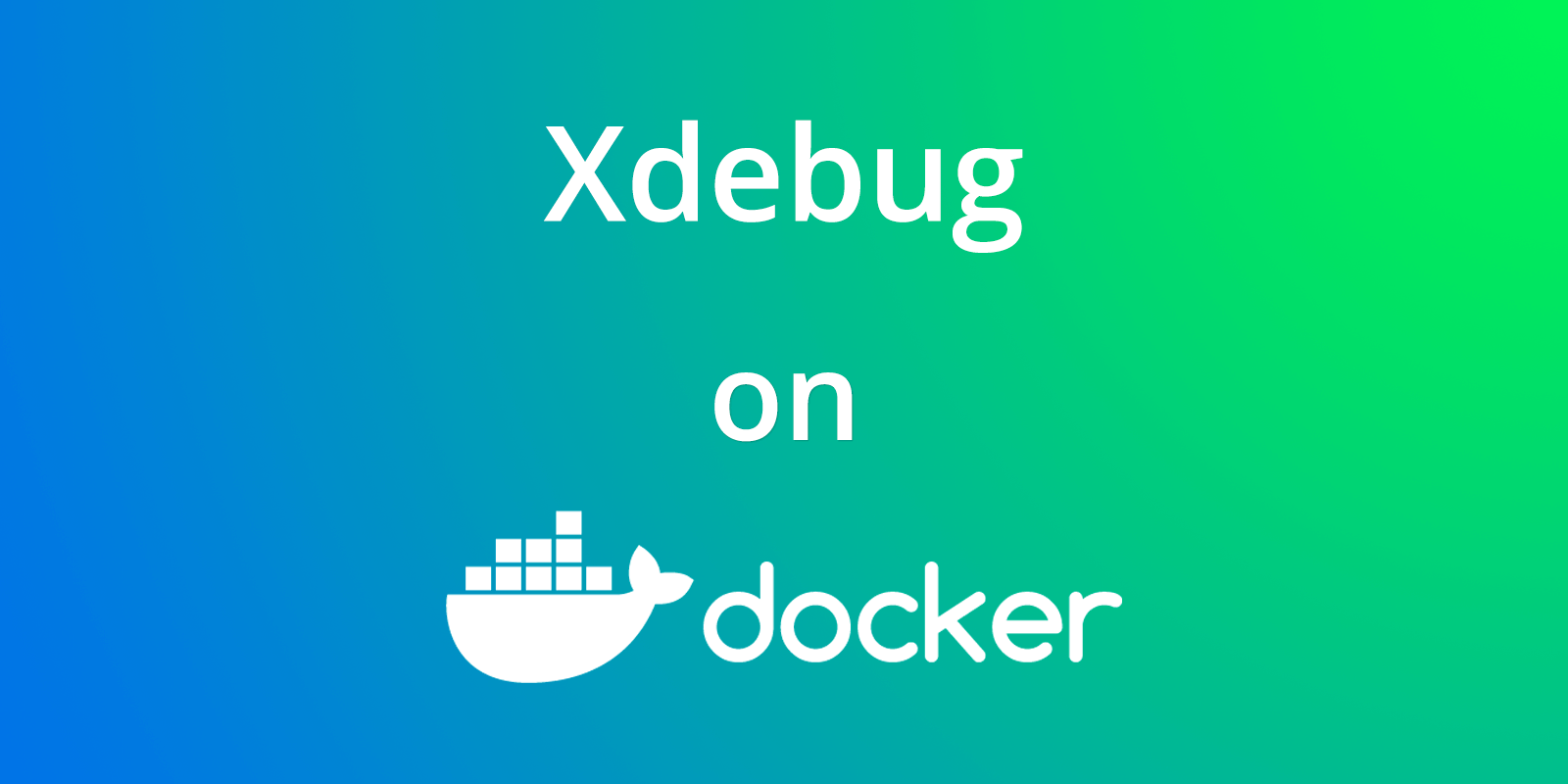 xdebug on docker